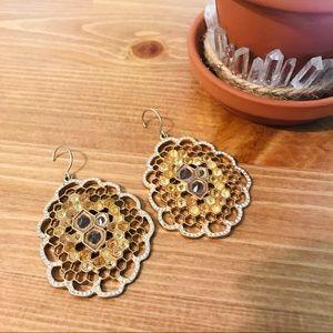 Honeycomb Swarovski Statement Earrings